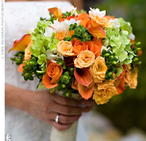 Oranžové kytice inšpirácie - Obrázok č. 42