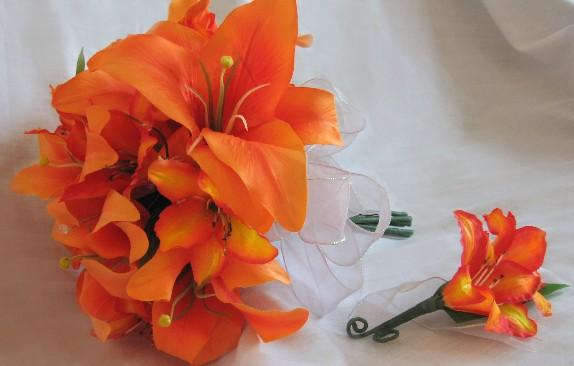 Oranžové kytice inšpirácie - Obrázok č. 45