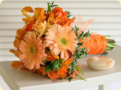 Oranžové kytice inšpirácie - Obrázok č. 50