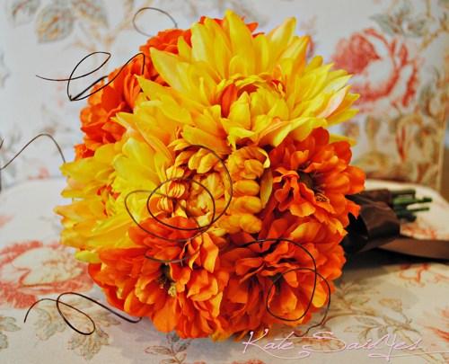 Oranžové kytice inšpirácie - Obrázok č. 58