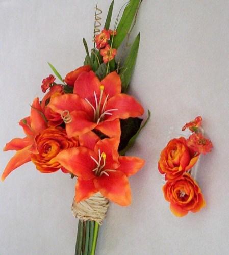 Oranžové kytice inšpirácie - Obrázok č. 59