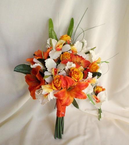 Oranžové kytice inšpirácie - Obrázok č. 63