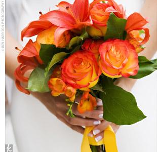 Oranžové kytice inšpirácie - Obrázok č. 67
