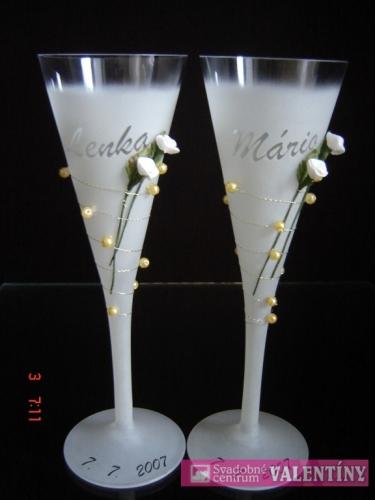 Svadobné poháre - Obrázok č. 17