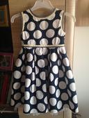 Dívčí modro-bílé šaty, 122