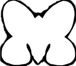 šablóna motýlikov na menovky (keby ste to niekto náhodou hľadali)