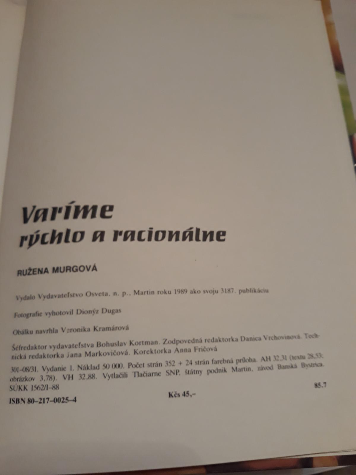 Kuchárske knihy-rezervované - Obrázok č. 2