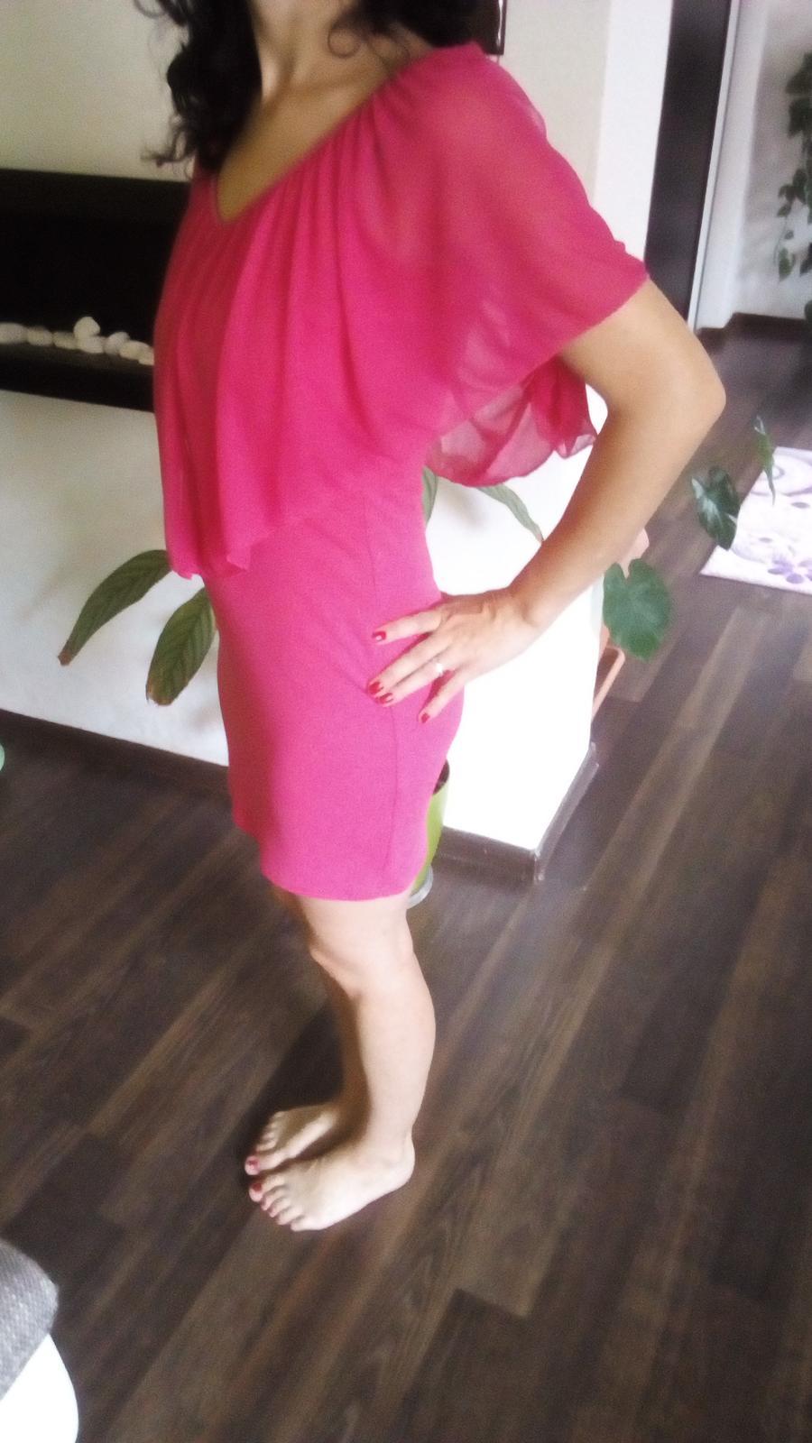 Cyklamenové  šaty Bonprix - Obrázok č. 1