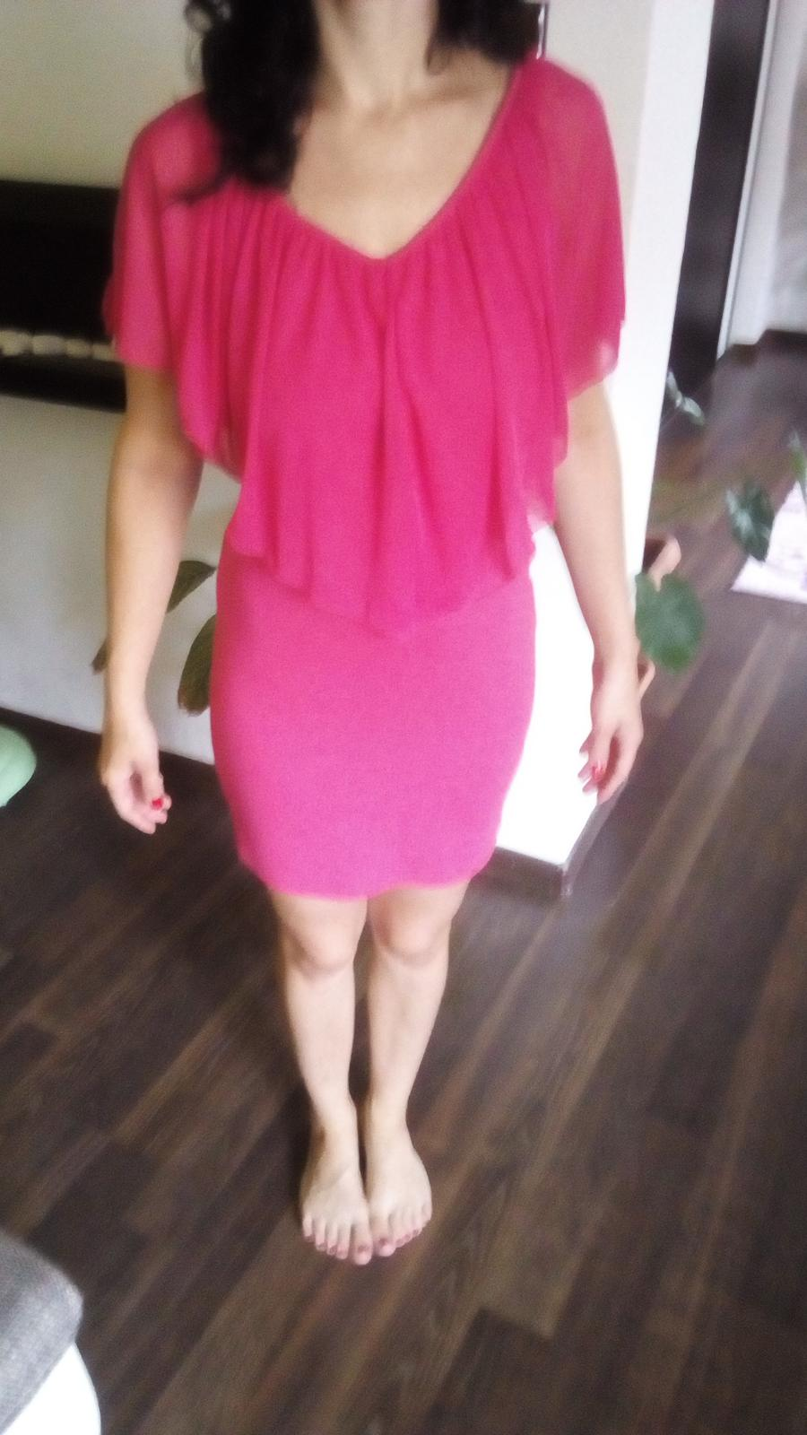 Cyklamenové  šaty Bonprix - Obrázok č. 2