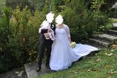 Svatební šaty pro plnoštíhlou nevěstu 50+, 50