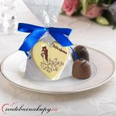 """Svatební čokoládky """"Srdíčka"""" i s Vašimi jmény ,"""