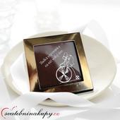 """Svatební čokoládky """"V krabičce"""" (5x5 cm),"""