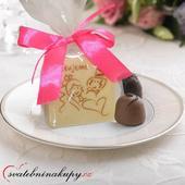 """Svatební čokoládky """"Čtverečky"""" i s Vašimi jmény ,"""