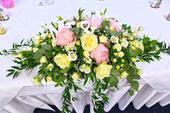Svadobná ikebana zo živých kvetov aj expresne,