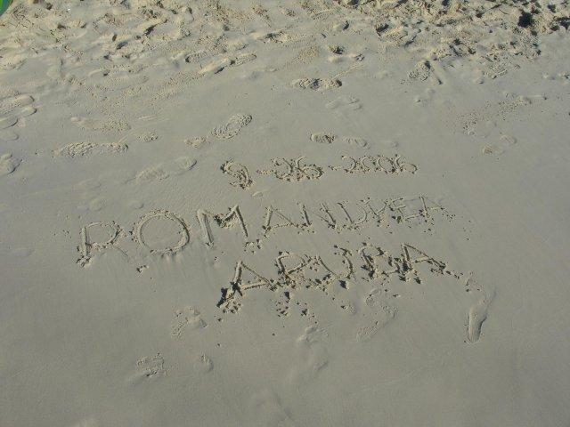 Andrea{{_AND_}}Roman - tohle napsal do pisku manzel, romaticke :-))