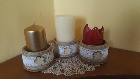 Svietnik na hrubé sviečky - Obrázok č. 1