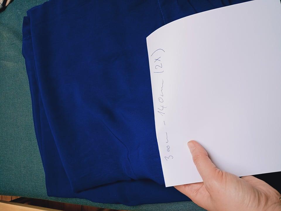 Šifón modrý - závěs - Obrázek č. 1