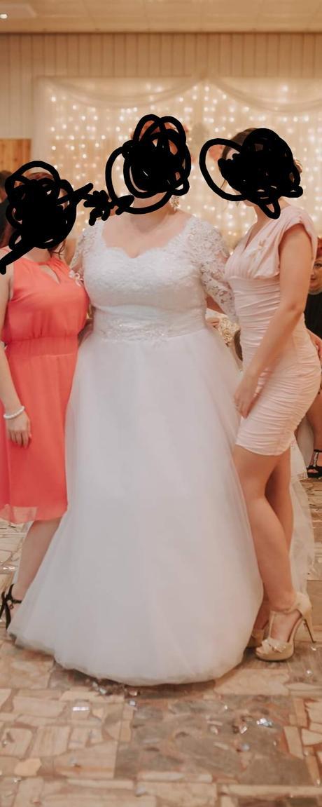 Snehobiele svadobné šaty - Obrázok č. 3