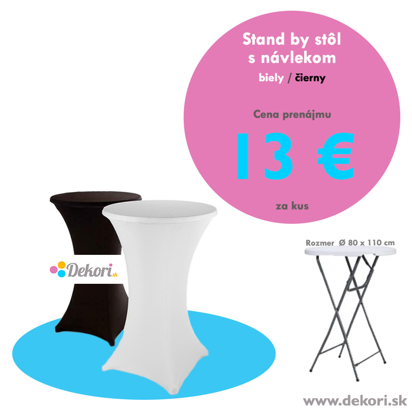 Stand by stôl s návlekom - Obrázok č. 1