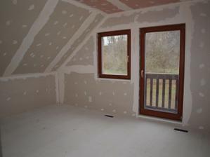 Budoucí ložnice v podkroví
