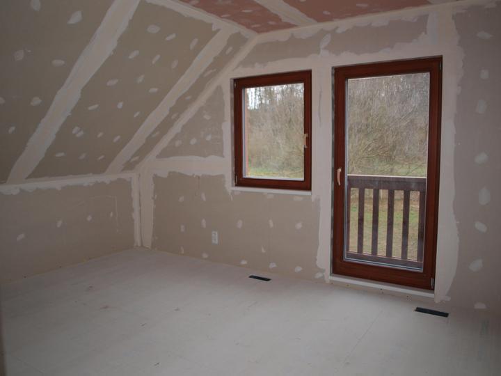 Stavba - 2. a 3. týden - Budoucí ložnice v podkroví