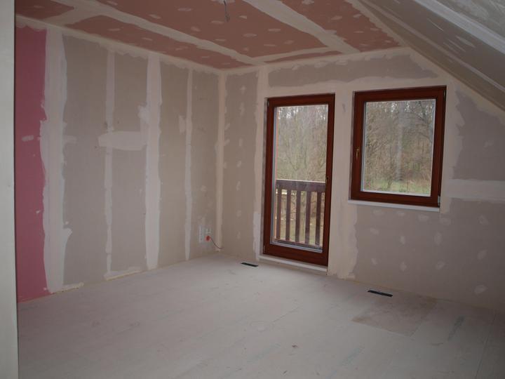 Stavba - 2. a 3. týden - Největší podkrovní pokoj