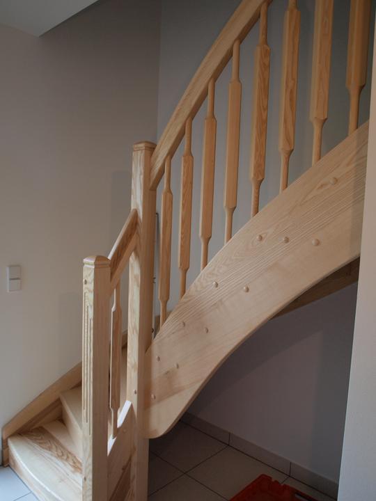 Stavba - 2. a 3. týden - Kompletní schodiště - zatím jediná fotka:)