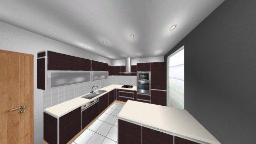 Stavíme s Rýmařovem - Kuchyně - zhruba takto by měla vypadat (chybí nerezové spodní lišty, granitový dřez, úchyty a rohové poličky)