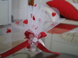 Určitě nebudou chybět dárečky pro hosty,akorát mašličky budou světle růžové.