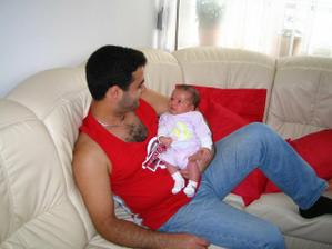 hrdy tato so synom...viac fotiek najdete na modrykonik.sk :)))