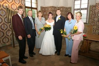 s rodiči a svědky
