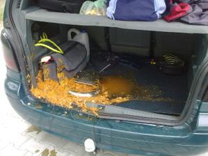 príchod domov :-D ..... len ma mrzí, že mojej svedkyni ešte mesiac kapustnica voňala v aute