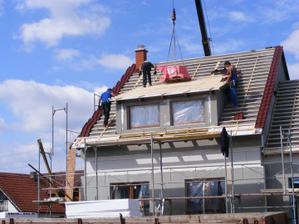 3. den - pokládka střechy