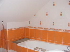 horní koupelna už téměř hotová