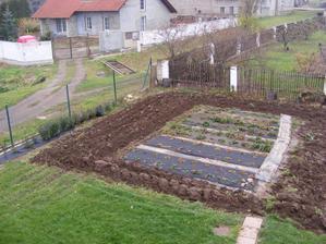 Jahody připravené na zimu, okolí už je zorané