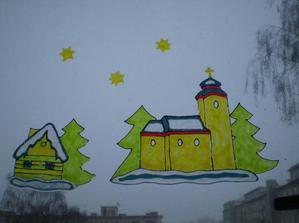 ladovská zima na okně