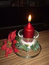 provizorní svícínek na 1. adventní neděli