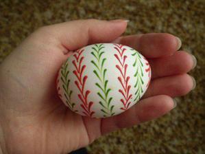 další vajíčko na ozdobu, jednoduché, ale pěkné