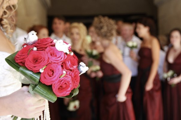 Detailiky nasej svadby 13.9.2008 - moja kyticka