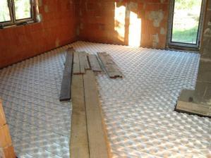 Podlahové kúrenie v obývačke