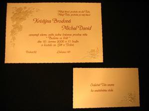 Ještě jednou s pozvánkou ke svatebnímu stolu.