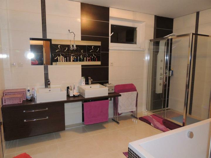 Náš splnený sen - kúpeľňa,obľúbený obklad morgano travena,výborne kombinovateľný,ešte treba dorobiť detaily