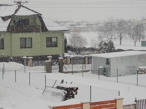 takto krásne nám dnes snežilo