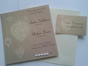 Naše svadobné oznámenie- nakoniec úplne iné ako sme mali v pláne-zato skvelý pocit, že je to náš originál.
