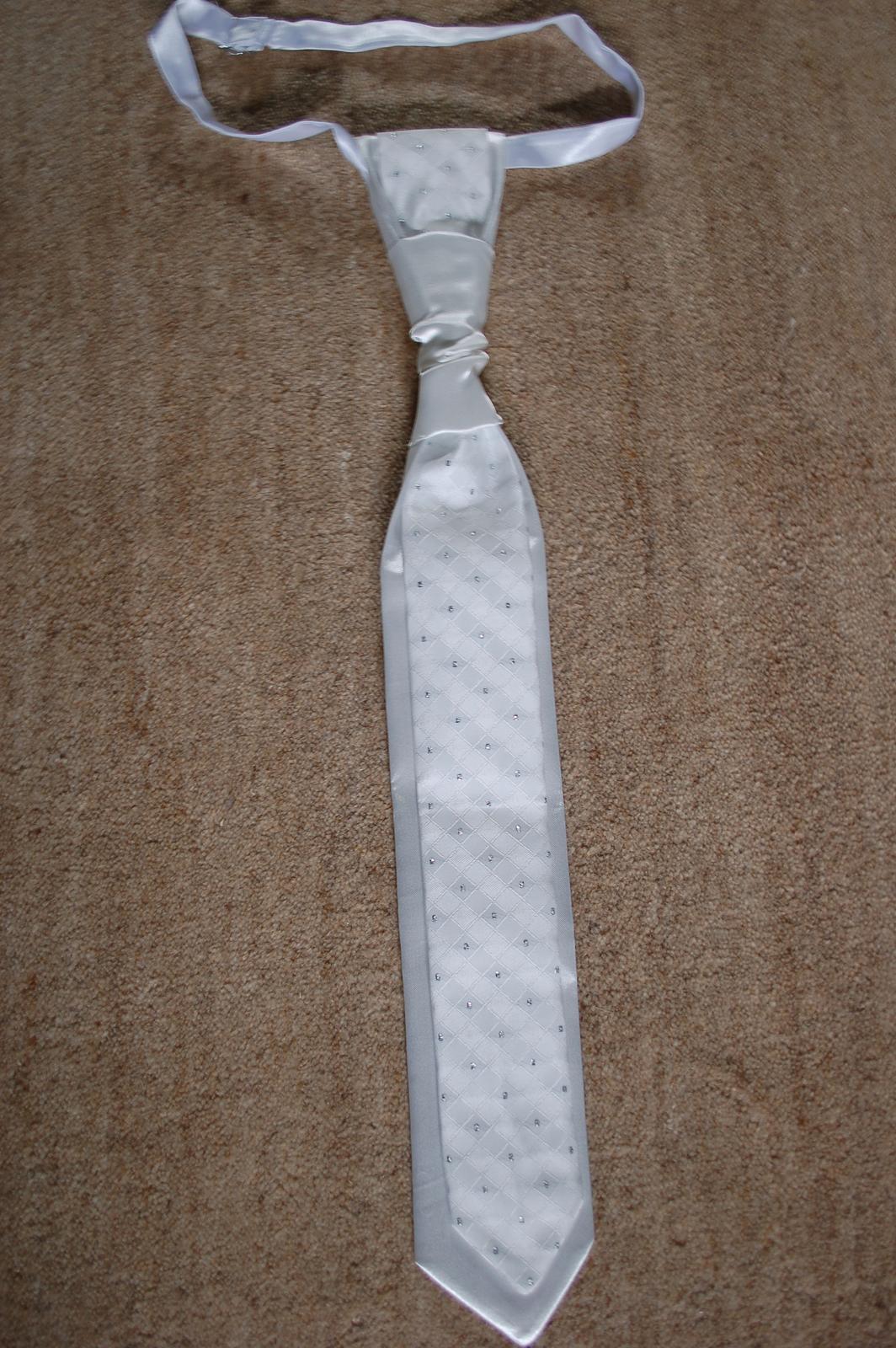 Nepouzita francuzska kravata s vreckovkou+postovne - Obrázok č. 3