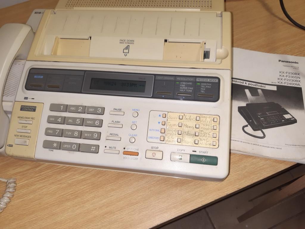 pevý telefon + zaznamnik + fax , Panasonic+ bonus - Obrázok č. 1