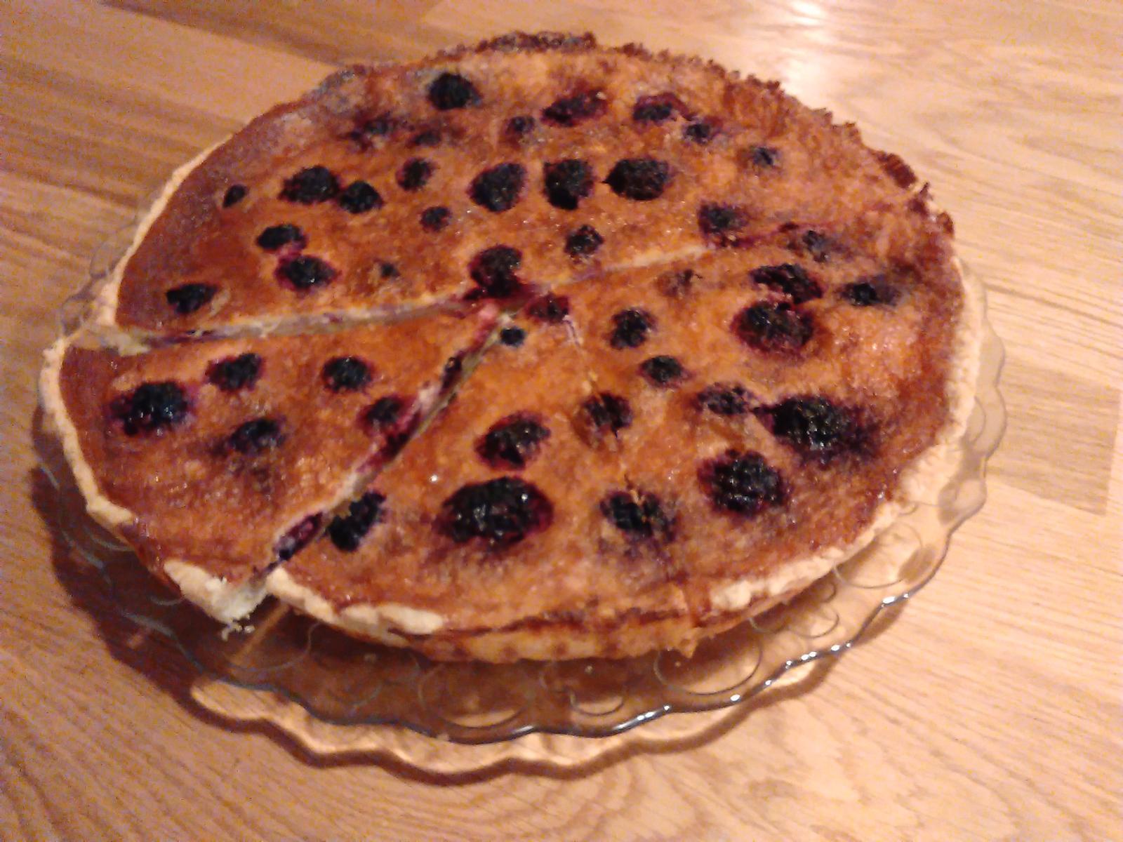 Sladký podzim v mojí kavárně - Ostružinový koláč dle Chez Lucie