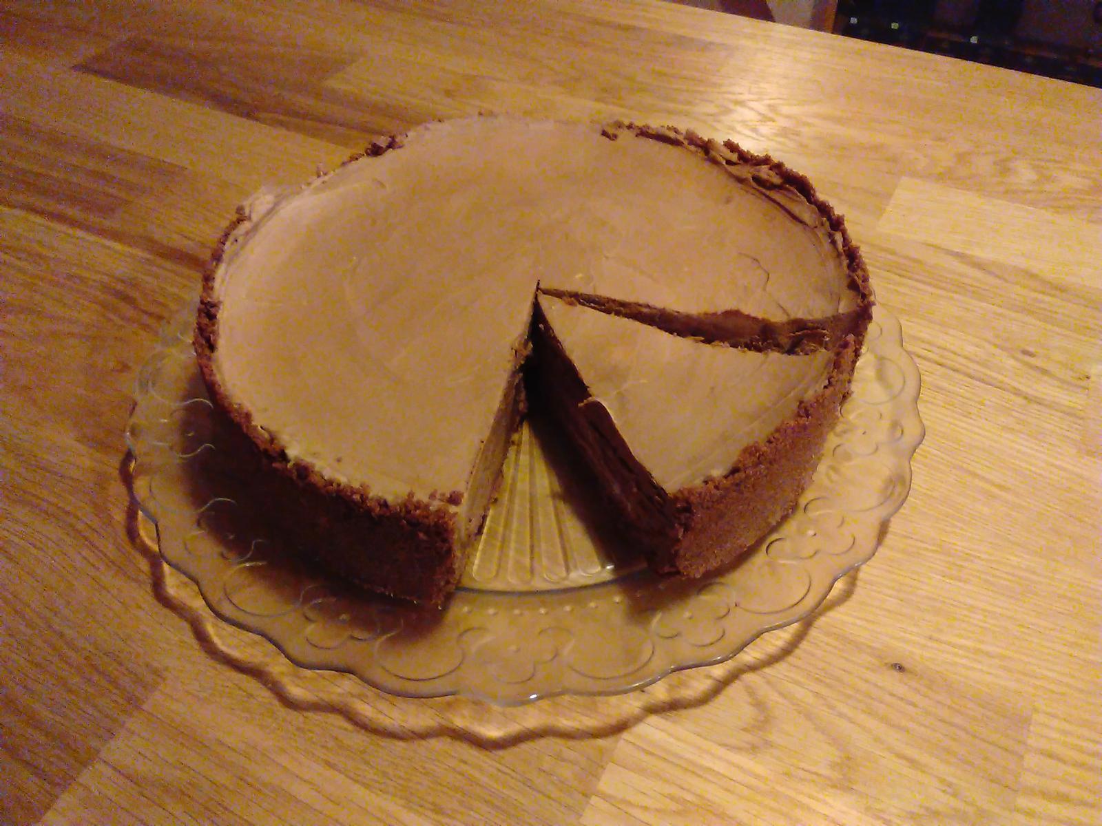 Sladký podzim v mojí kavárně - Cheese cake plný hořko- mléčné čokolády