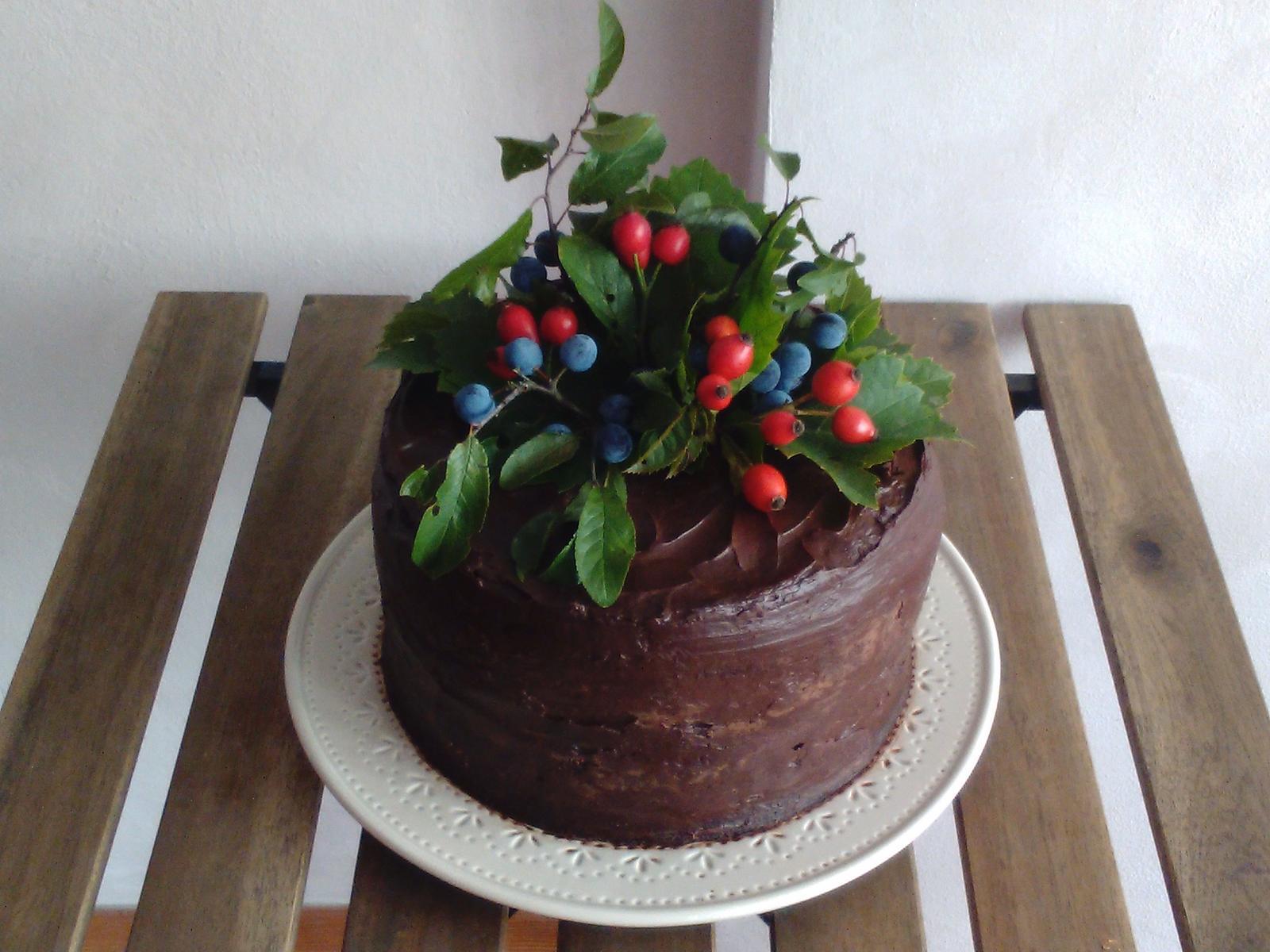 Sladký podzim v mojí kavárně - ... větší dort jsem snad nikdy nevyrobila