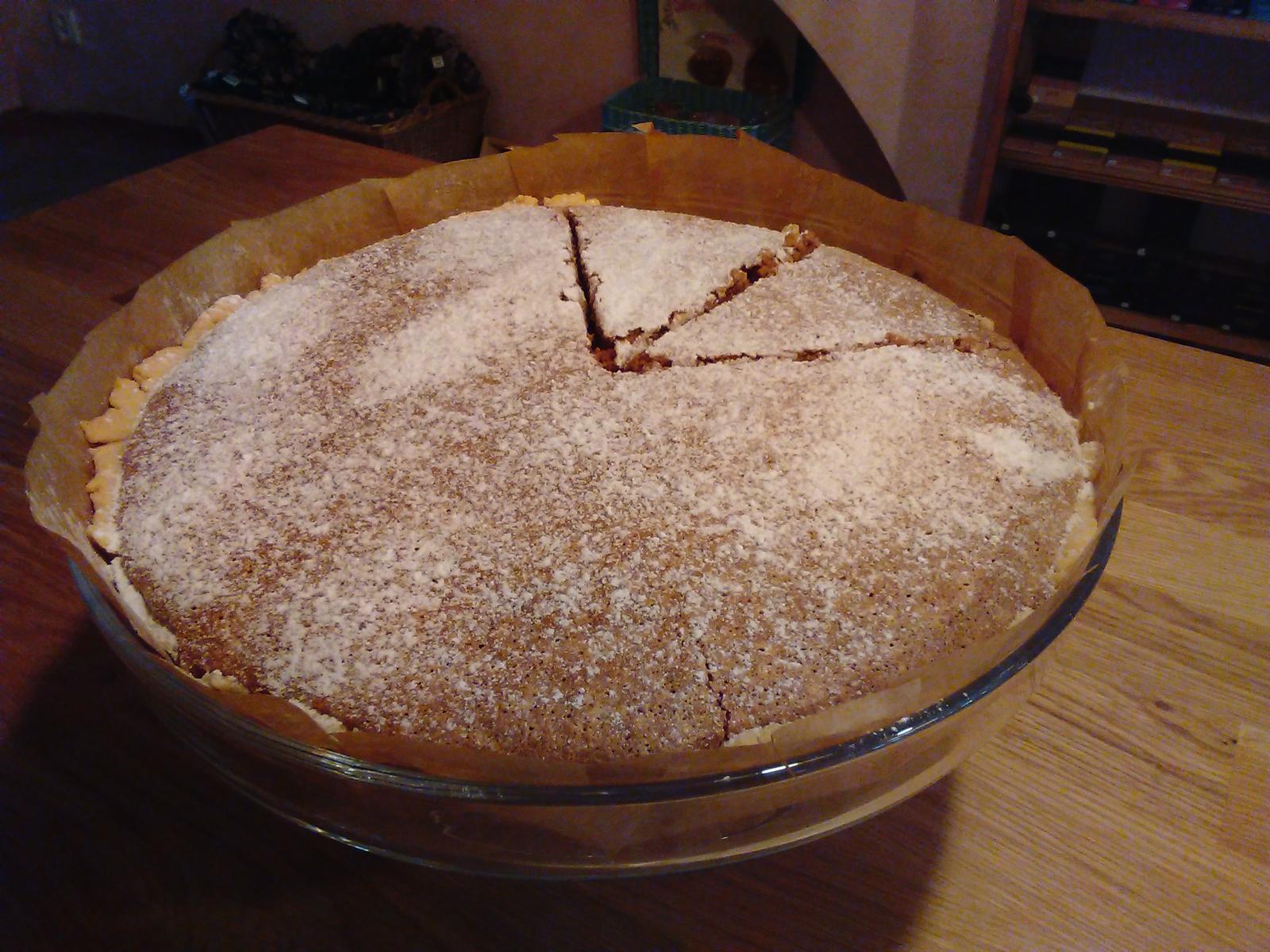 Sladký podzim v mojí kavárně - Americký ořechový koláč se zakysanou smetanou